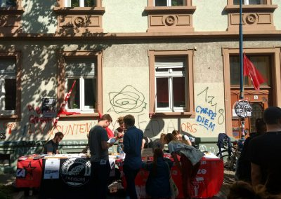 Internationale Jugend Freiburg Infostand