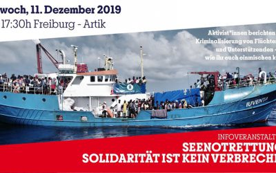 Freiburg: Solidarität ist kein Verbrechen – Infoveranstaltung