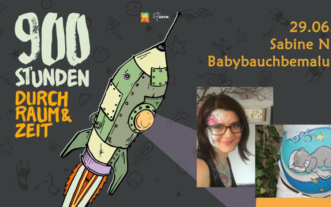 900 Stunden durch Raum und Zeit | Babybauchbemalung